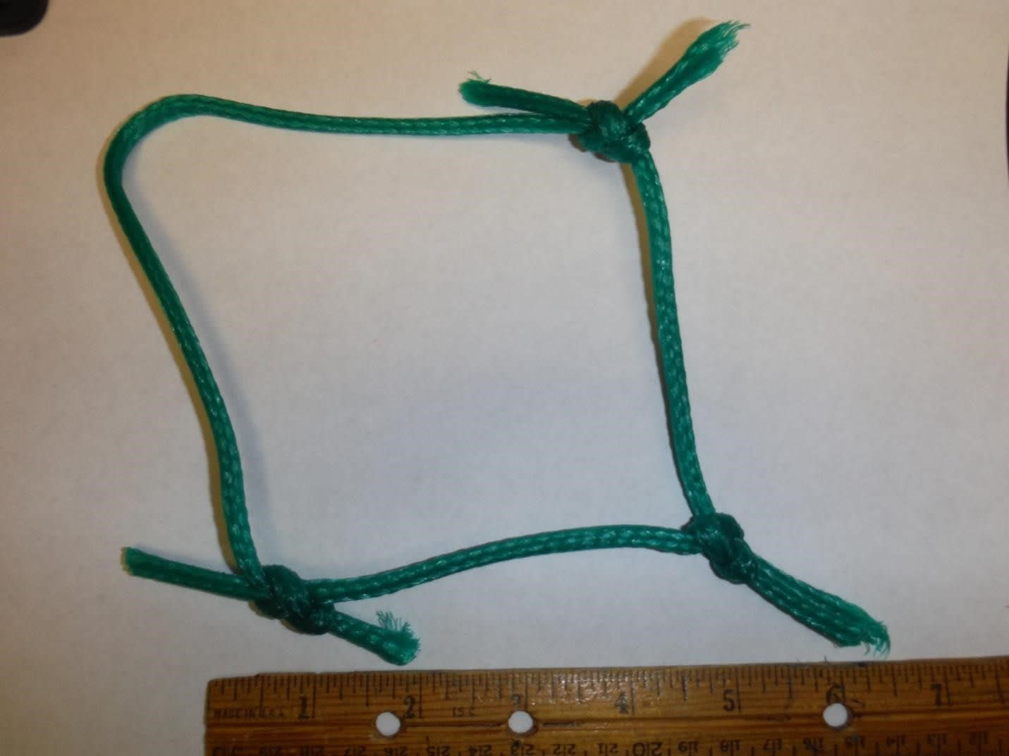 "green-braided, knotted 10"" 3.5mm soccer netting"