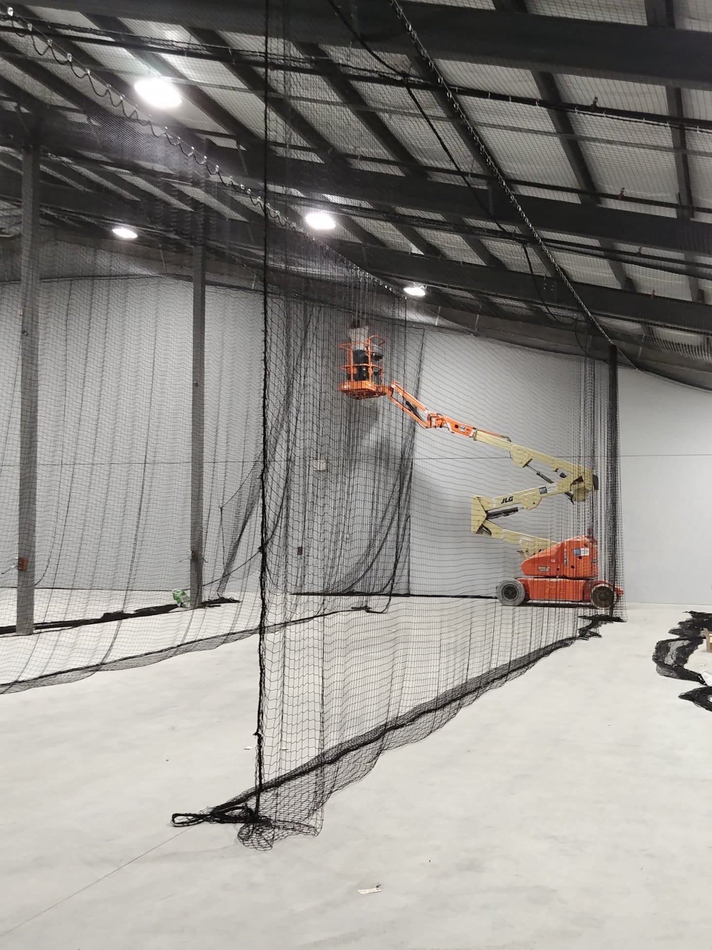 cage netting installation