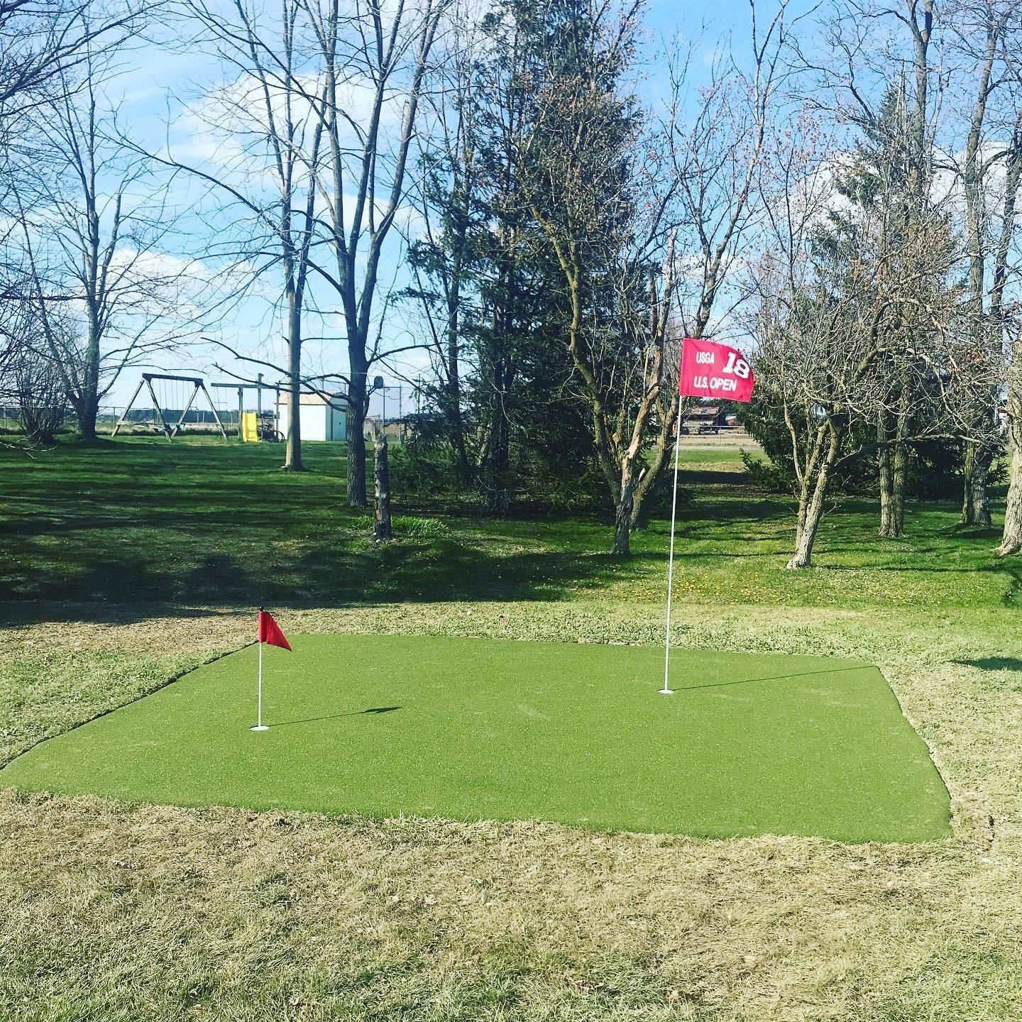 customer installed putting green