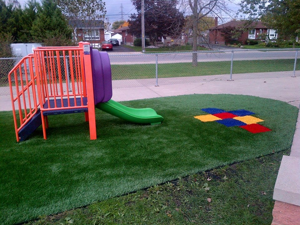 hop scotch turf in daycare