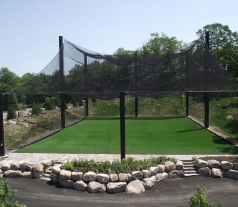 golf cage netting application