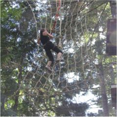 climbing netting for adventure parks