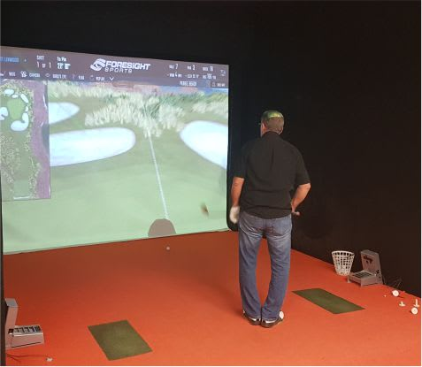 simulator screen netting bay golf