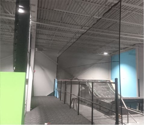 trampoline facility netting